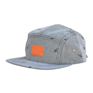 Popular pasadyang katad patch 5 panel cap