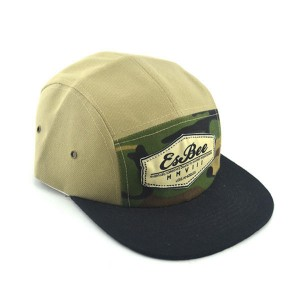 Custom Made New Design 5 Panels Camouflage Caps