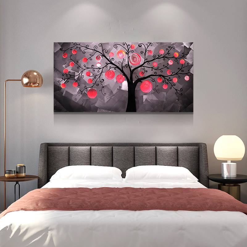 fairy tree 3D metal LED painting modern home wall arts decoration for sale