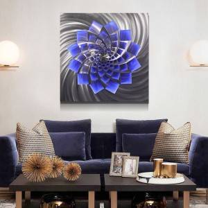 Abstract swirl 3D metal LED painting for home decor modern wall arts for sale 100% handmade