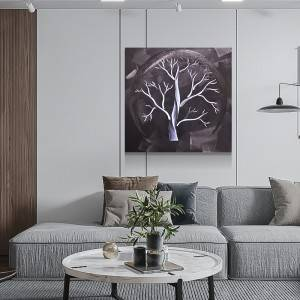 3D metal tree LED painting wall art sculpture decor 100% handmade for sale