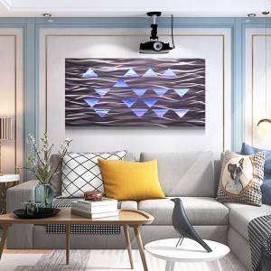 Abstract 3D LED painting 100% handmade modern wall arts wholesale from China