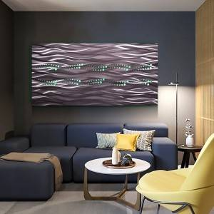 wholesale 3D abstract metal LED painting 100% handmade modern wall arts decoration
