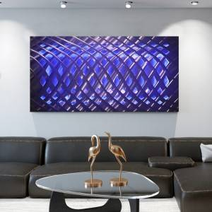 Abstract 3D metal LED painting contemporary wall arts decor handicraft from China