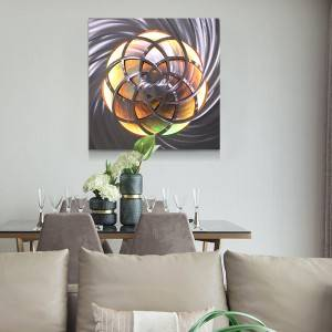 Abstract swirl metal LED painting brush aluminum wall arts modern interior decoration wholesale