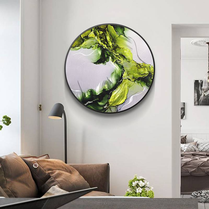 Abstract Circle 3D Metal Oil Painting for Interior Home Modern Decoration Handicraft Wall Arts