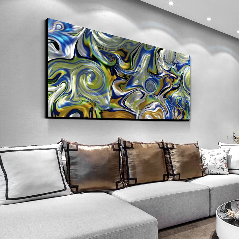 Abstract 3D Metal Oil Painting for Interior Home Modern Decoration Handicraft Wall Arts