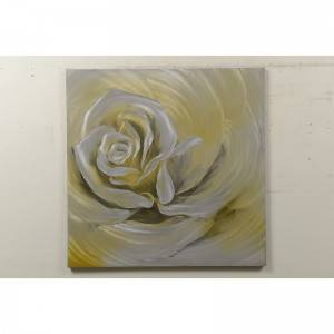 Rose yellow handmade metal oil painting wall arts home decoration