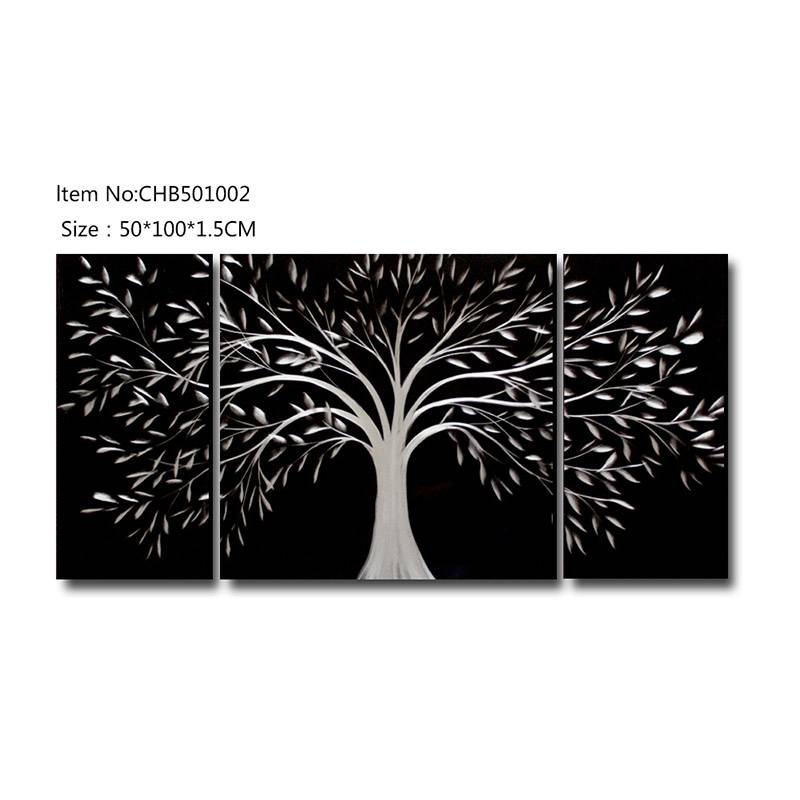 3D life of tree metal oil painting contemprory wall art decoration