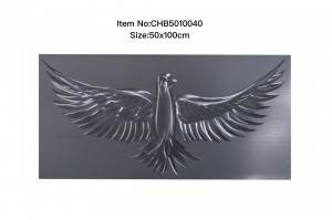 100% hand paint 3D metal brush oil painting silver pigeon modern wall art decor