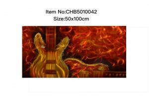 Beth musical instrument 3D brush metal oil painting contemporary wall arts 100% handmade