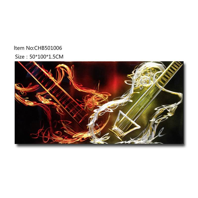 3D metal bass instrument oil painting contemprory wall art decoration