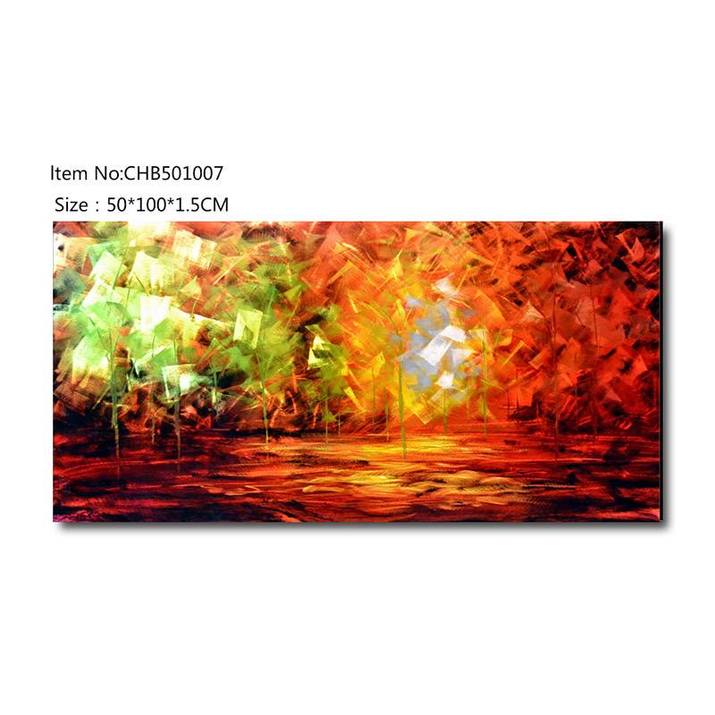 3D abstract brush metal oil painting contemprory wall art decoration