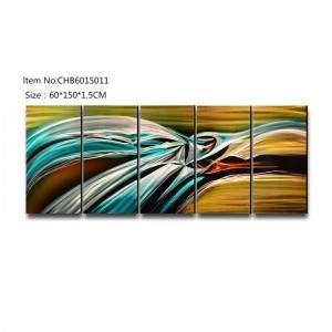 Abstract bird 3D handmade oil painting modern metal wall art decoration
