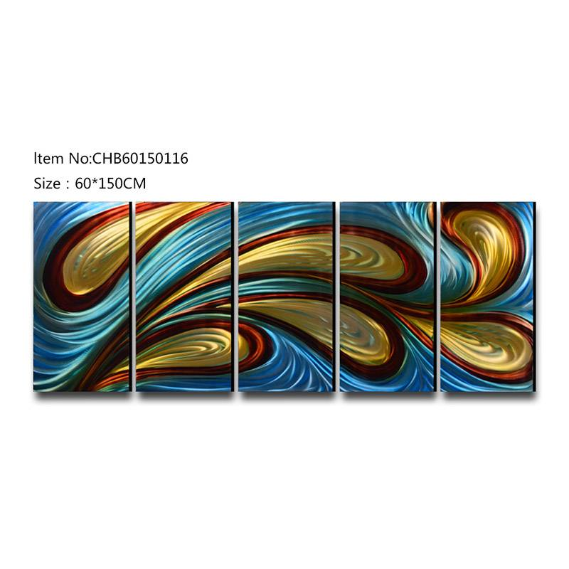 Abstract swirl 3D handmade oil painting modern metal wall art decoration