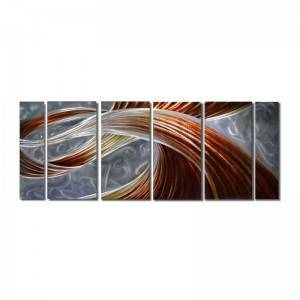 Abstract multi panels 3D metal oil painting big size wall arts wholesale from China manufacturer