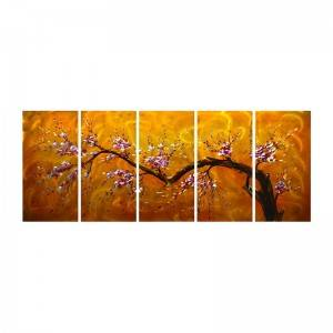 Plum blossom 3D handmade oil painting modern metal wall art decoration