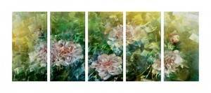 spring flowers 3D metal oil painting modern wall arts for home decor wholesale from China manufacturer