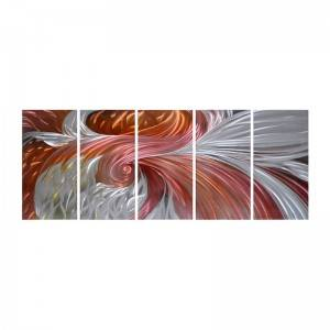 Abstract 3D handmade oil painting modern metal wall art decoration