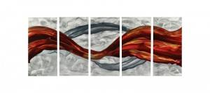 Abstract ribbons 3D metal brush aluminum oil painting modern wall arts handicraft decoration wholesale