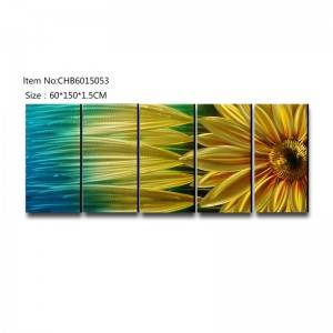 Sunflower 3D handmade oil painting modern metal wall art decoration