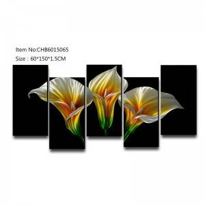 Calla lily flower 3D handmade oil painting modern metal wall art decoration
