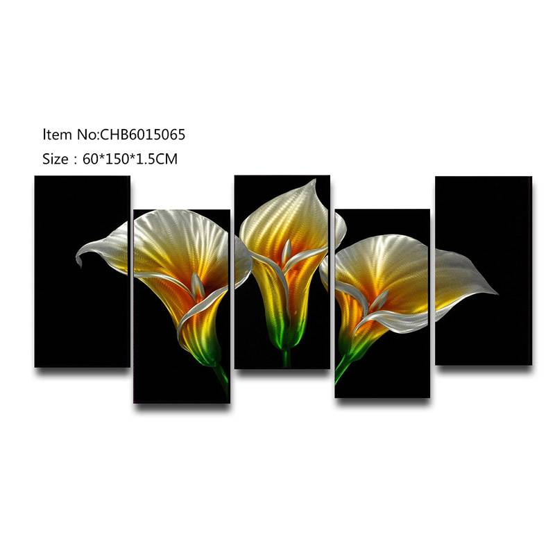 Calla lily flower 3D handmade oil painting modern metal wall art decoration Featured Image