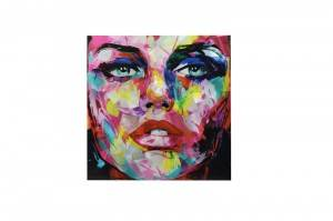 modern colorful face 3D metal oil painting wall arts handicraft home decoration wholesale from China manufacturer