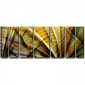 7 pieces abstract 3D metal handmade oil painting big size wall art decor
