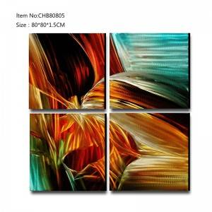 Abstract 3D metal handpaint oil painting modern  interior home wall art decor
