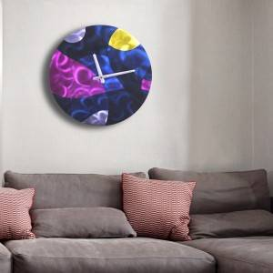 Metal circle abstract wall clock wholesale from China manufacturer