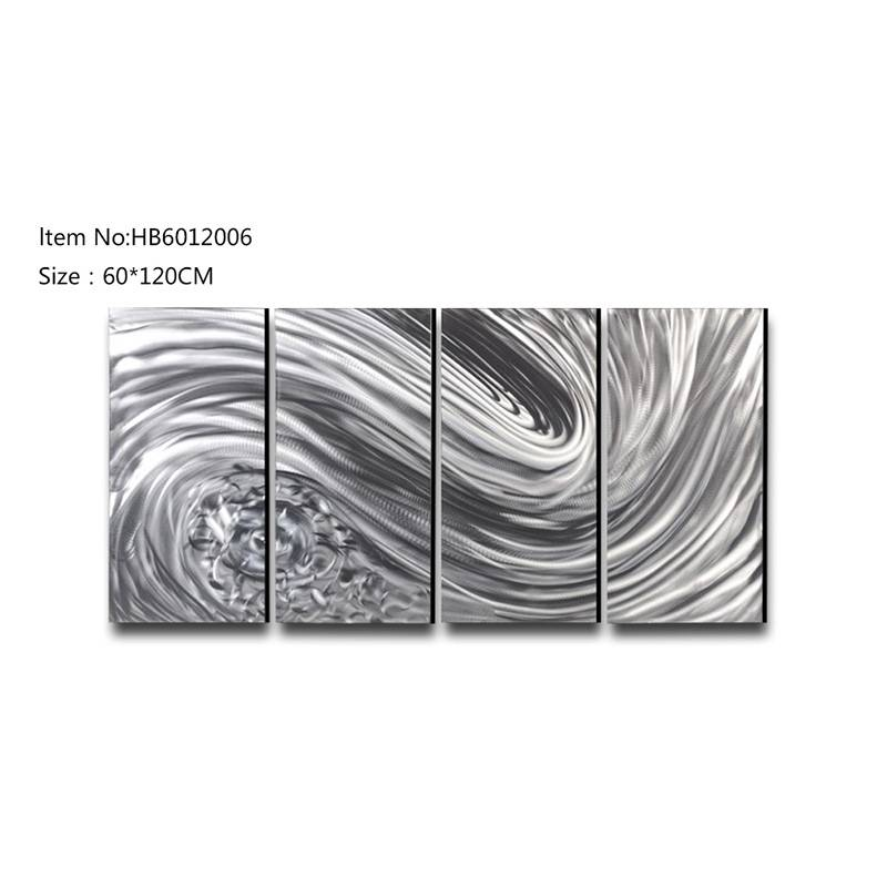 3D brush abstract metal oil painting moder wall arts home decor crafts