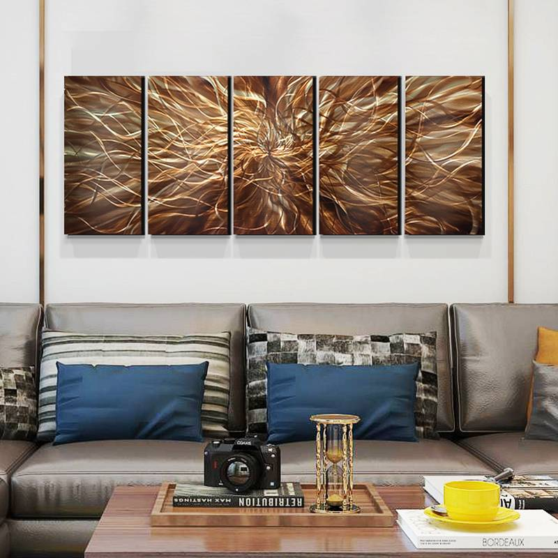 3D brown abstract oil painting for interior wall decor arts 100% hand paint
