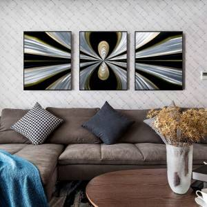 3D handmade abstract metal oil painting interior wall arts decor