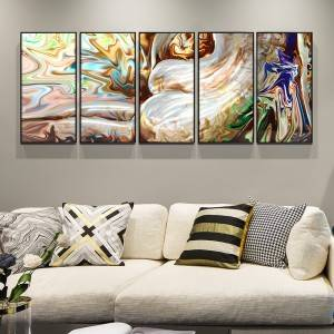 3D abstract metal oil painting wall arts interior decor 100% handmade