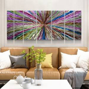 Abstract 3D metal oil painting modern interior wall arts decor 100% handmade