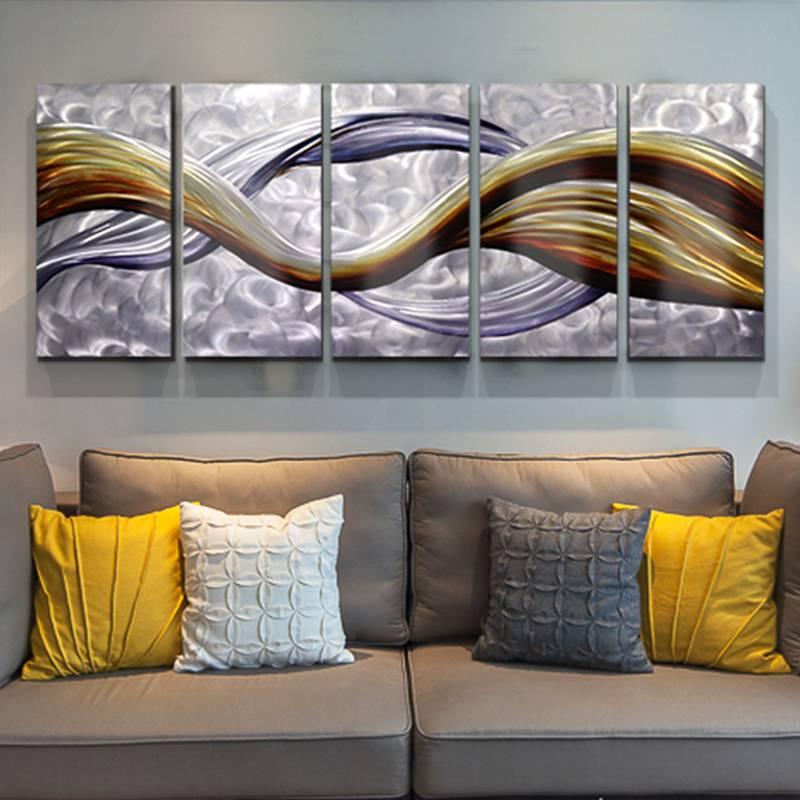 Abatract 3D metal oil painting for interior modern wall decor arts 100% hand paint