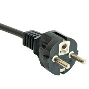 Korea AC power supply cords CEE 7/7 type F schuko plug