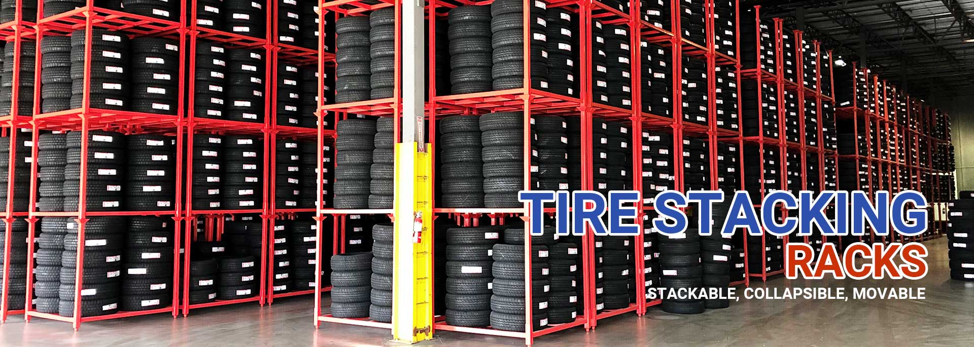 TIRE STACKING RACKS