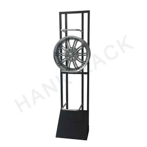 Wheel Display Stand with Acrylic Sign Holder