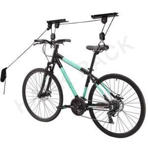 Garage Ceiling Bike Hanging Storage Bicycle Hoist Pulley