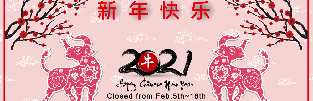2021 Chinese New Year Holiday
