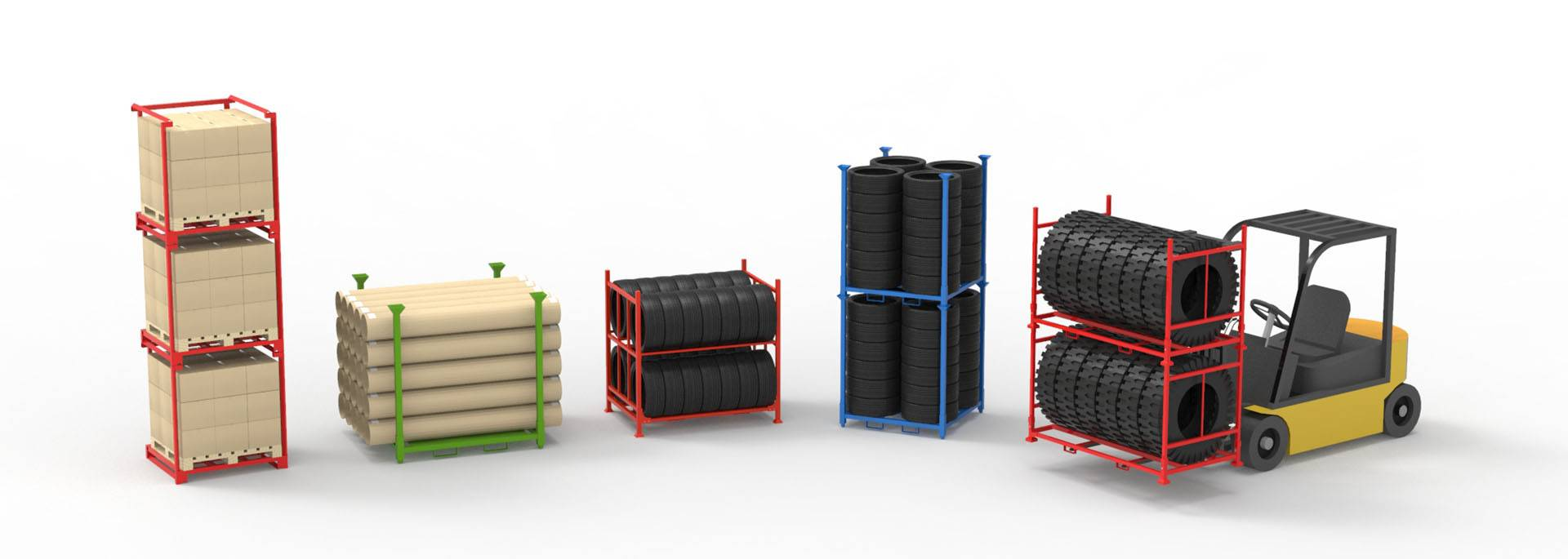 Stack Racks, Nestainers, Stillages, Stackable Pallets