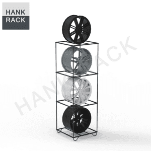 3 Cubes Car Rim Display Stand Wheel Rack