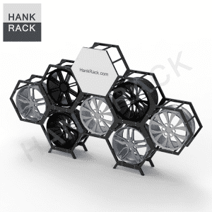 Hexagonal Wheel Display Rack