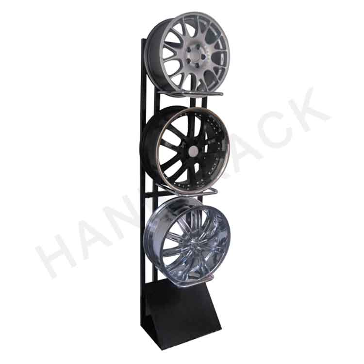 Wheel Display Stand with Acrylic Sign Holder Featured Image