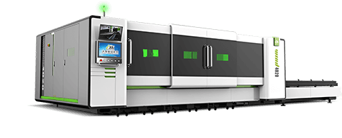 Alta potenco Fibro Laser Cutting Machine