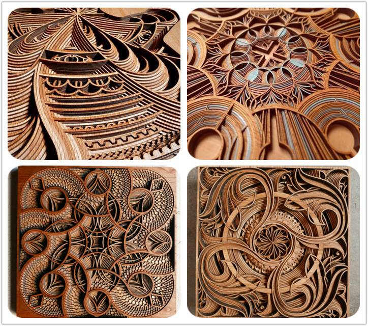 Beautiful wood laser cutting and engraving