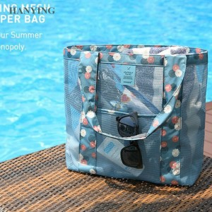 Wholesale Simple Fashionable Modern Lady Shoulder Shopping Storage Bag Travel Beach Net Bag