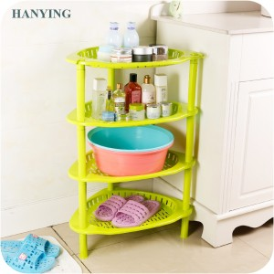 home storage Heart-shaped four-layer plastic cosmetic display rack for home